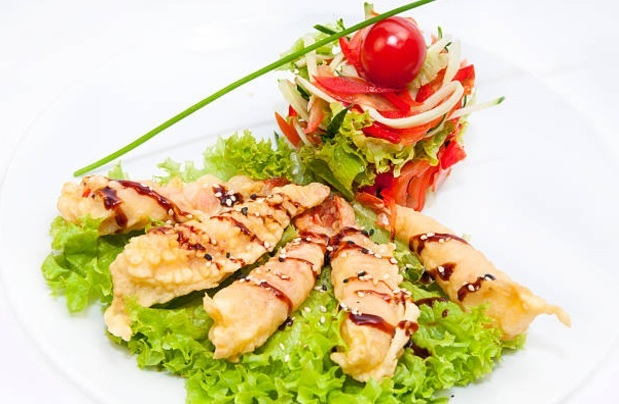 Shrimps in tempura